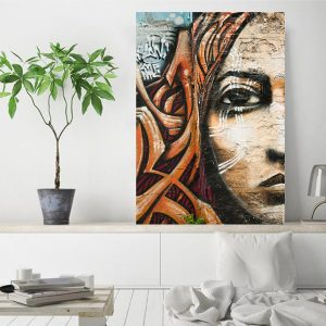 wrap around canvas wall art